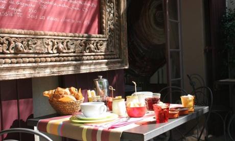 Breakfast at Hôtel Sous Les Figuiers, France