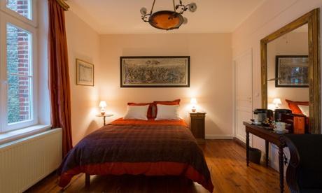 Bedroom at Les Tourelles, Mons-en-Baroeul, Lille, France
