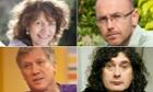 Labour donors Susie Orbach, Peter Duncan, Trevor Beattie and Wayne Hemingway. Composite