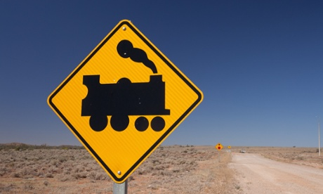 Train crossing sign … Beltana, South Australia.