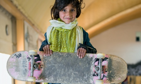For Kabul schoolgirls, learning to ride a skateboard is pathway to liberation