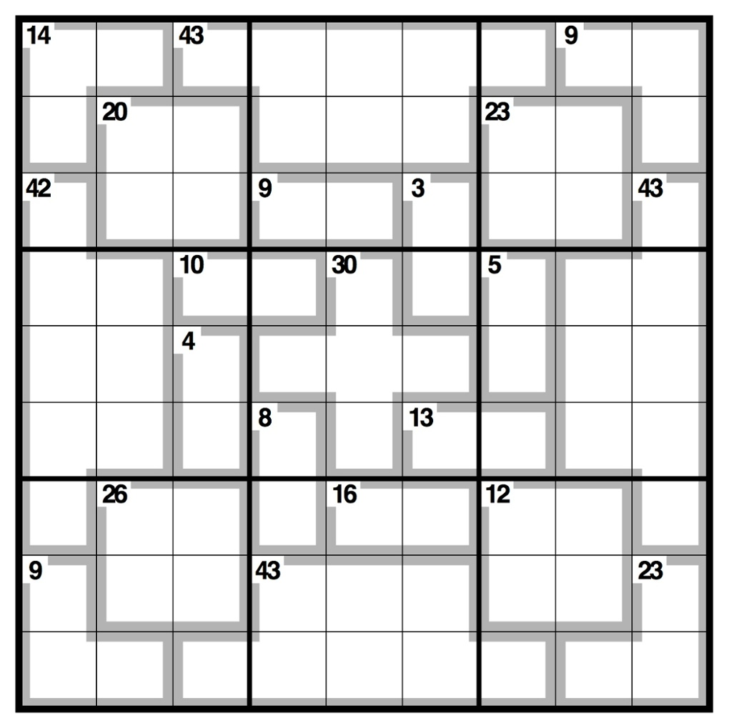 Dramatic image pertaining to killer sudoku printable