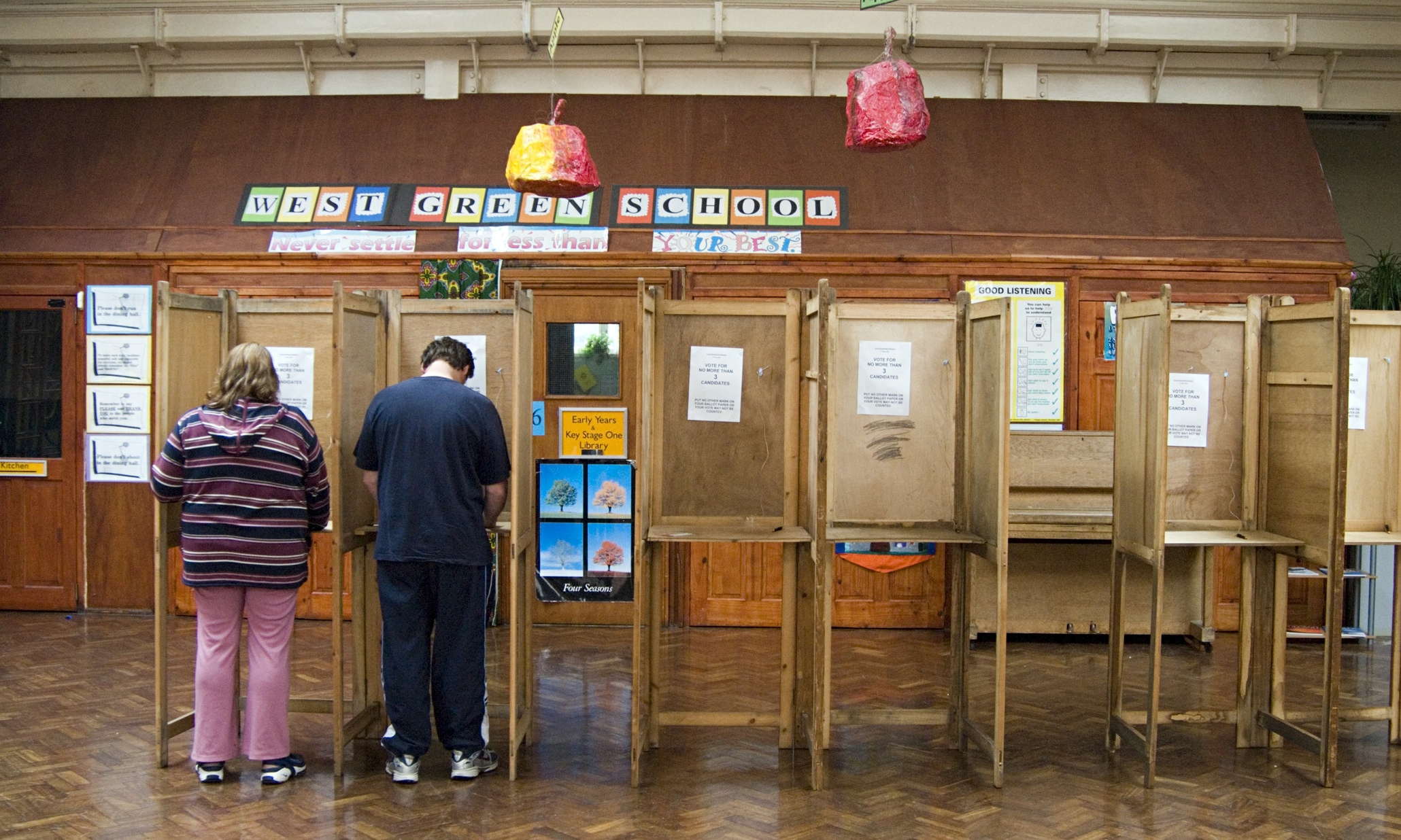 words essay on a scene at a polling booth