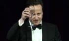 David Cameron proposes a toast