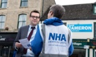 Dr Clive Peedell campaigning for his National Health Action party in Witney.