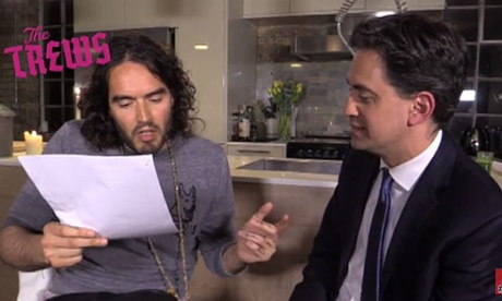 Ed Miliband aims to engage non-voting youth with Russell Brand encounter