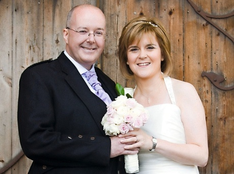 Nicola Sturgeon at her wedding to SNP chief executive, Peter Murrell, 2010