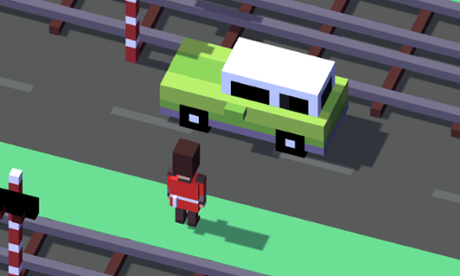 Stop, look, listen ... and hop! Mobile game Crossy Road is a hit in the UK