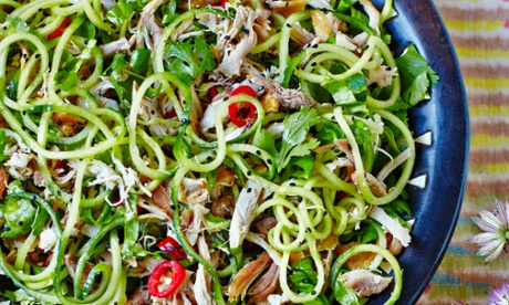 Hemsley & Hemsley's Sesame Chicken Salad with Cucumber Noodles