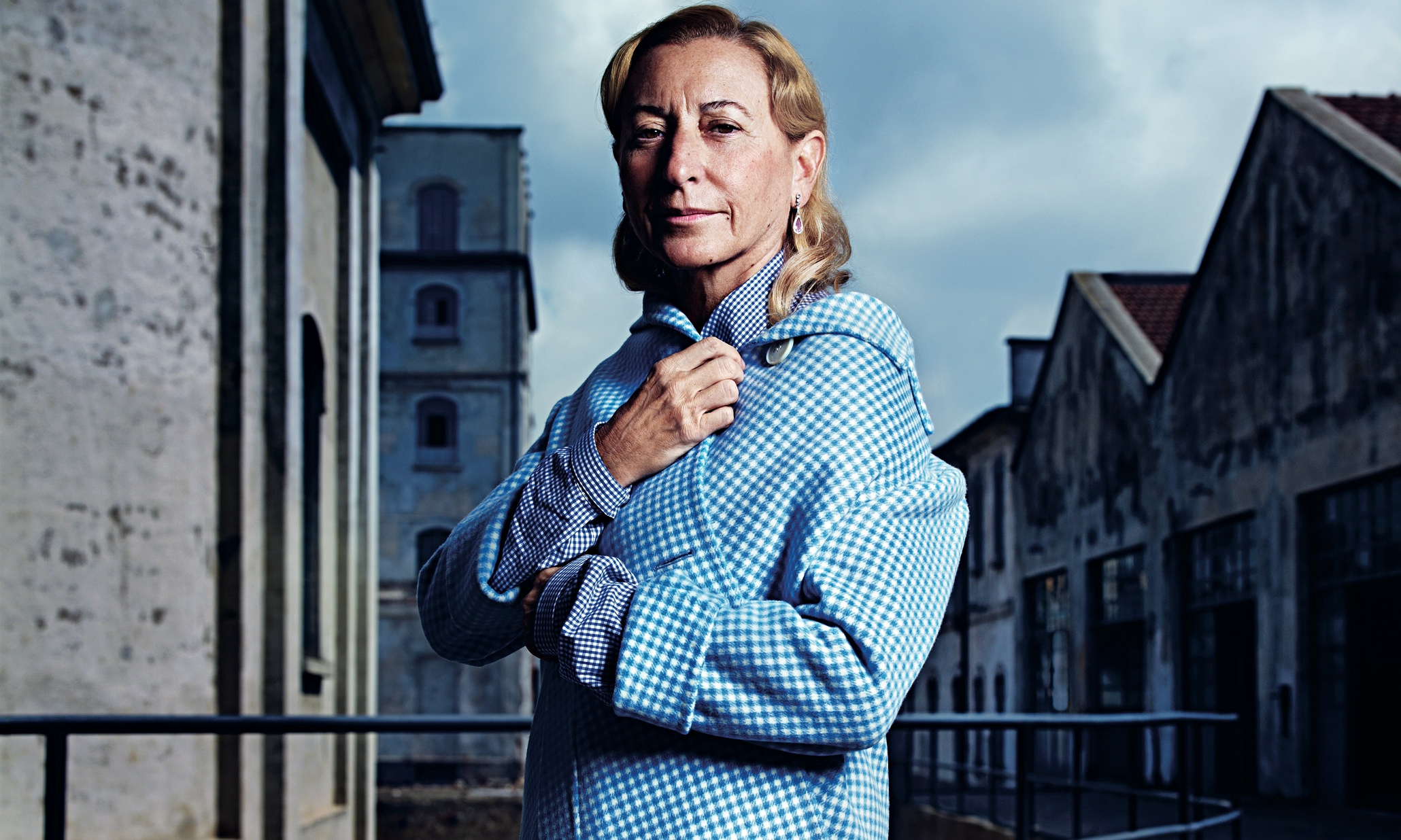 Tips: Miuccia Prada, 2018s Bun hair style of the beautiful mysterious  designer