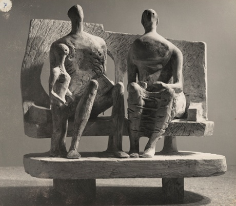 Family Group (plaster maquette for Unesco commission 1956-57), photograph by Henry Moore. Waddington Custot