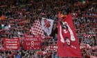 Liverpool fans spell out their gratitude to Steven Gerrard