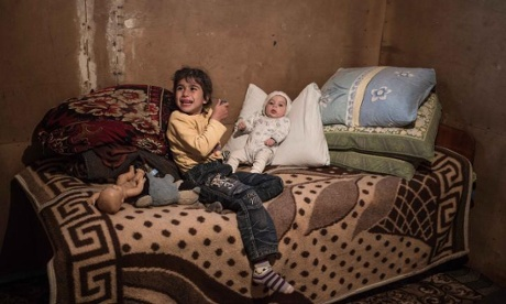 Families living in poverty in the shadow of Azerbaijan's luxury sports stadiums