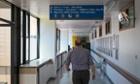Man in hospital corridor