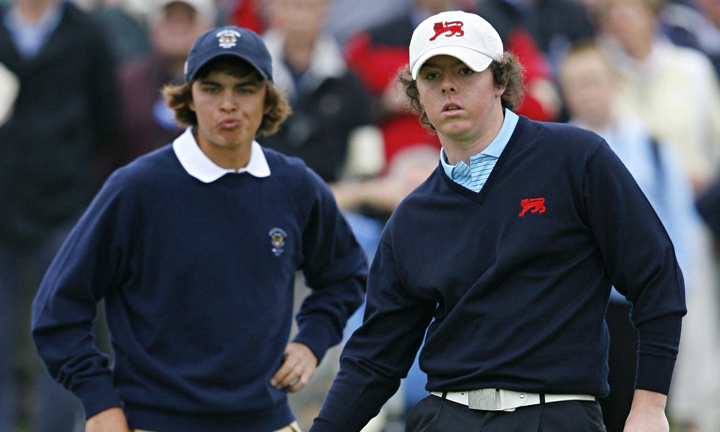 Rory McIlroy walks down memory lane with Rickie Fowler at Royal County Down