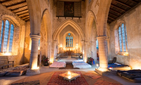 Holy nights: camping in a church