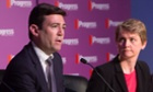 Potential Labour leaders Andy Burnham and Yvette Cooper .