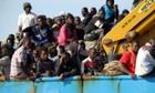 Libyan migrants cross the Mediterranean