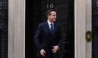 David Cameron outside No 10 Downing Street.