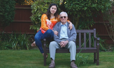 Caroline Welling, 22 with her dad, Peter, who was 60 when she was born.