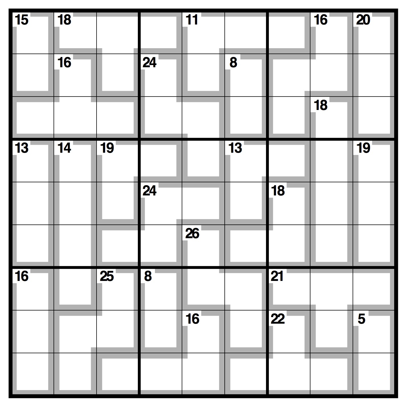 Geeky image within killer sudoku printable