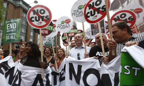 Anti-austerity protests: tens of thousands rally across UK