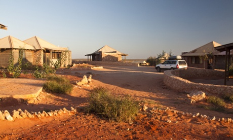 Gnaraloo station's cabins.