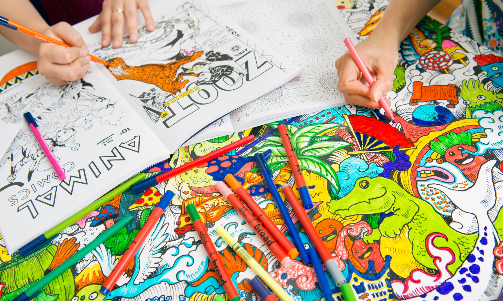 Adult Colouring Books O Fashion