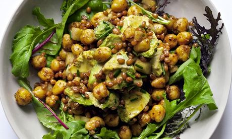 Nigel Slater's freekeh with avocado and chives salad recipe