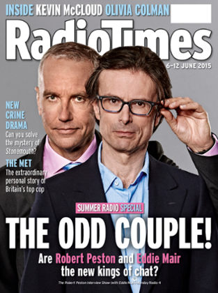 Robert Peston and Eddie Mair on the cover of Radio Times
