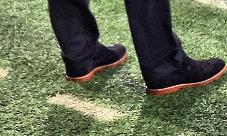 Football Managers White Sole Shoes