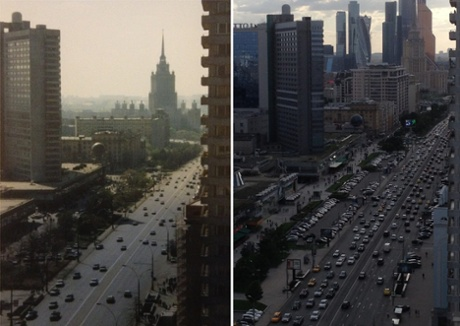 Moscow then and now