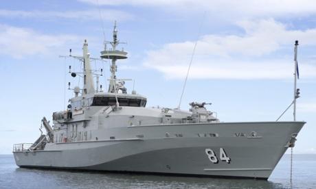 A Royal Australian Navy Armidale patrol boat
