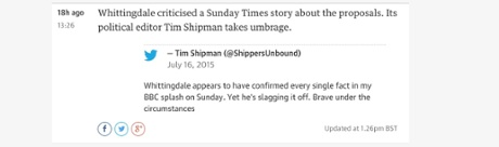 Tim Shipman tweet