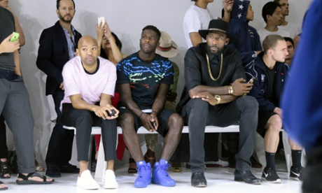 The front row at Tim Coppens' show at New York fashion week: men's