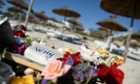 Sousse, Tunisia, where notes and flowers have been placed at the site of a terror attack last Friday.