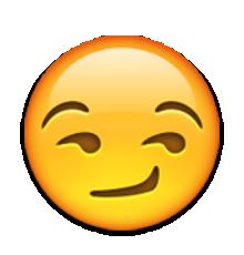 emoji smirking