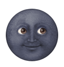 creepy moon emoji