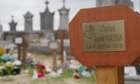 The freshly laid grave of Samir Khedija in Calais.