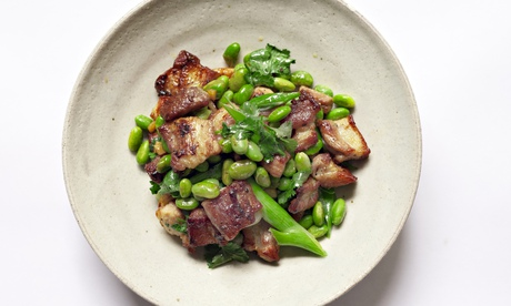 Nigel Slater's pork belly and edamame bean recipe