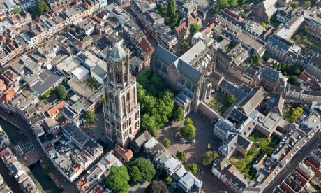 St. Martin's Cathedral or Dom Church with the Dom Tower, Utrecht