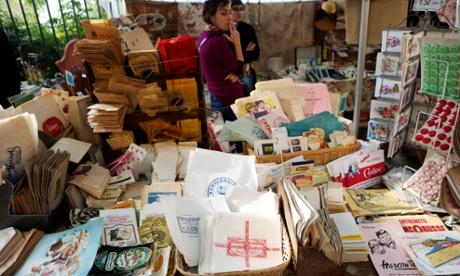 Stall at flea market, Marche aux Puces de la Porte de Vanves.