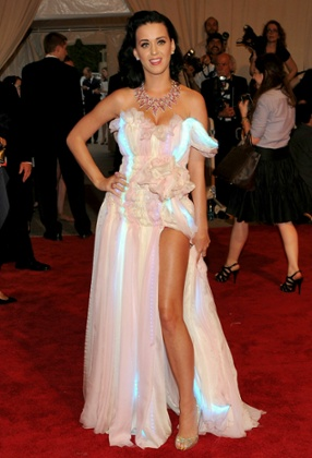 Katy Perry wearing a CuteCircuit dress at the 2010 Met Gala