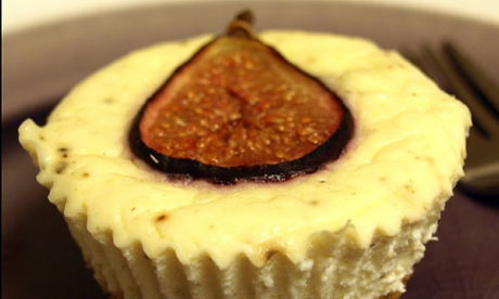 Mini savoury fig and rosemary cheesecakes