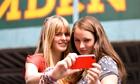 Teenage selfie in Camden, London UK