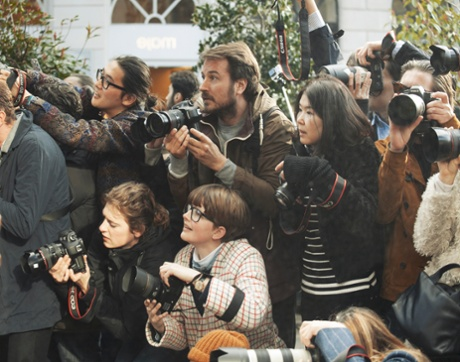 Phill taylor captures the scrum outside fashion week