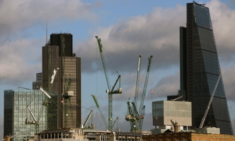 The central London skyline under construction in 2014.