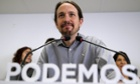 Pablo Iglesias, leader of Spain's anti-austerity party Podemos (We Can).