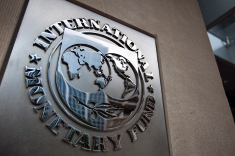 The logo of the International Monetary Fund.