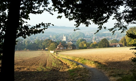 The view of Old Amersham, in the green belt in Buckinghamshire.